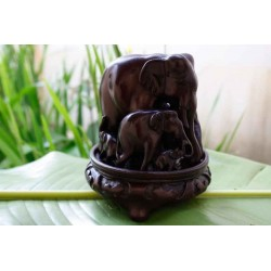 Elephant Family Statuette