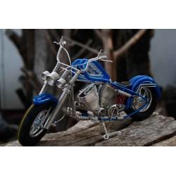 10 Inch Blue Wire Motorbike
