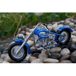 6 Inch Blue Wire Motorbike