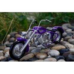 6 Inch Purple Wire Motorbike