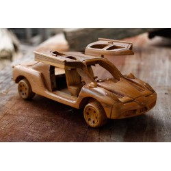 Teak Butterfly Door Race Car