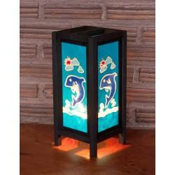 5x11 Blue Dolphin Handmade Lamp