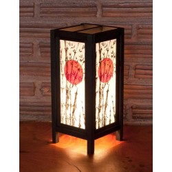 5x11 Asian Sunset Handmade Lamp
