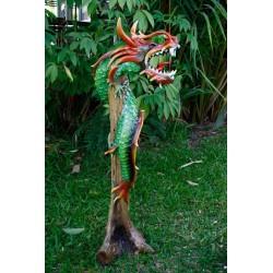 One Meter Teak Dragon OMD 076