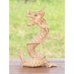 10 Inch Paint Your Own Coiled Stance Dragon