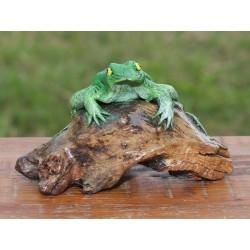 Teak Green Frog Sculpture - 1 - 6 Inch