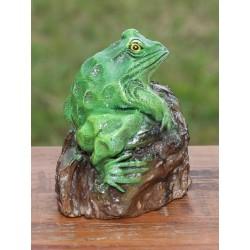 Teak Green Frog Sculpture - 1 - 5 Inch