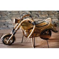 Handmade Wooden Motorbike 13 Inch