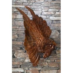 Teak Wall Hanging - Eagle In Flight