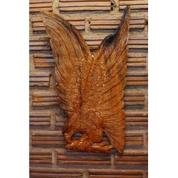 Teak Wall Hanging - Eagle with Fish in Flight
