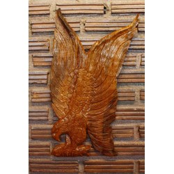 Teak Wall Hanging - Flying Feeding Eagle