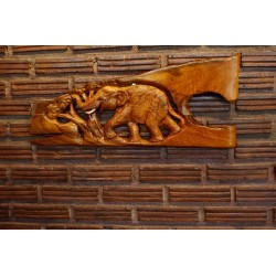 Teak Wall Hanging - Galloping Through The Jungle