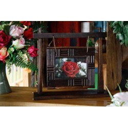 Swinging Teak Picture Frame 4x6 SWPF 015