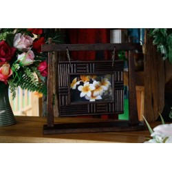 Swinging Teak Picture Frame 4x6 SWPF 016