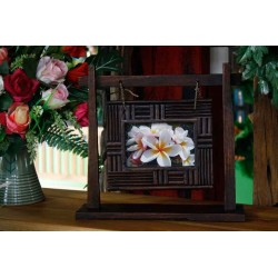 Swinging Teak Picture Frame 4x6 SWPF 017