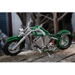 10 Inch Green Wire Motorbike