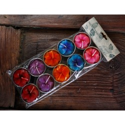 Variety Flower Tea Light Candles (set of 30)