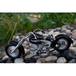 6 Inch Black Wire Motorbike