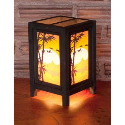 5x7 Bamboo Sunset Handmade Lamp