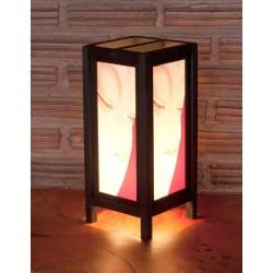 5x11 Meditating Budha Handmade Lamp