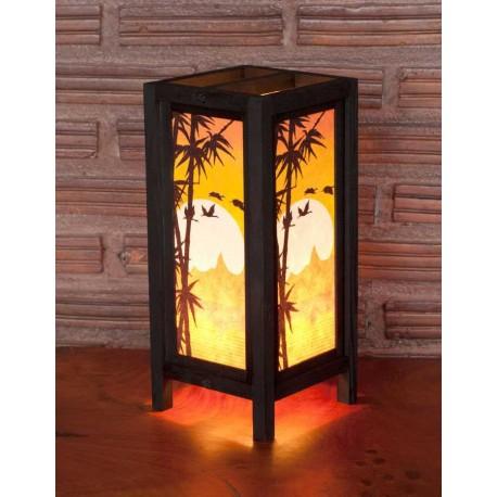 5x11 Bamboo Sunset Handmade Lamp