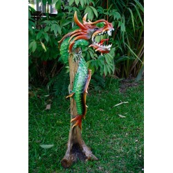 One Meter Teak Dragon OMD 076
