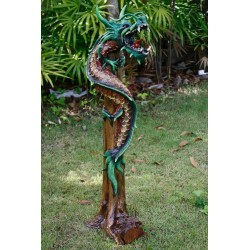 One Meter Teak Dragon OMD 077