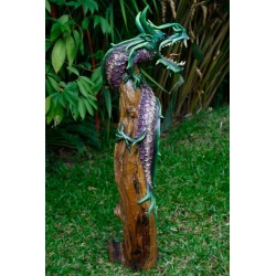 One Meter Teak Dragon OMD 078