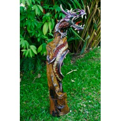 One Meter Teak Dragon OMD 081