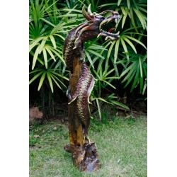 One Meter Teak Dragon OMD 083