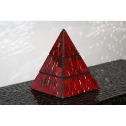 Fire Jewelry Pyramid Mosaic Glass Box