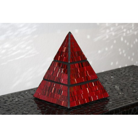 Fire Jewelry Pyramid Mosaic Glass Box