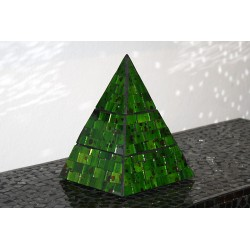 Forest Jewelry Pyramid Mosaic Glass Box