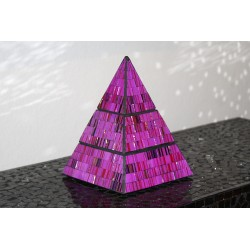 Aurora Jewelry Pyramid Mosaic Glass Box