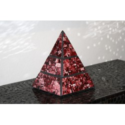 Earth Jewelry Pyramid Mosaic Glass Box