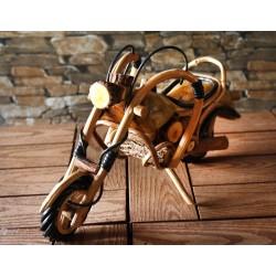 Handmade Wooden Motorbike 9 Inch
