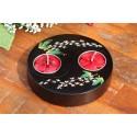 Yin & Yang White Paduak Mango Wood Candle Holder