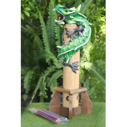 Bamboo Green Dragon Incense Holder