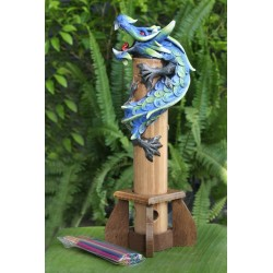 Bamboo Blue Dragon Incense Holder