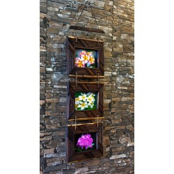 Wall Three Piece Teak Picture Frame 4x6 HPF 4022