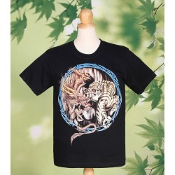 Dragon and Tiger Full Circle T Shirt