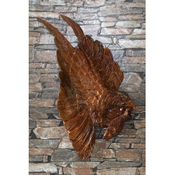 Teak Wall Hanging - Eagle In Flight