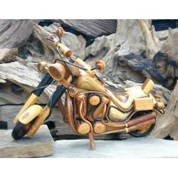 Handmade Wooden Motorbike 21 Inch