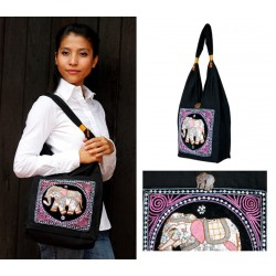 Burmese elephant shoulder bag