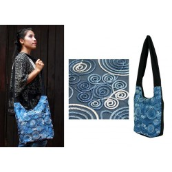 Blue dream handmade shoulder bag