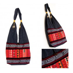 Crimson Akha handmade shoulder bag