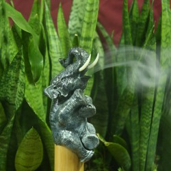 Bamboo Elephant Incense Holder