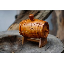 3D Jigsaw Puzzle Wine Barrel