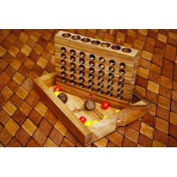 Connect 4 Wooden Game