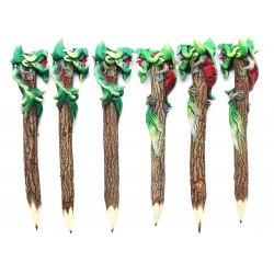 Dragon Green - Red Personalized Pencils (set of 6)